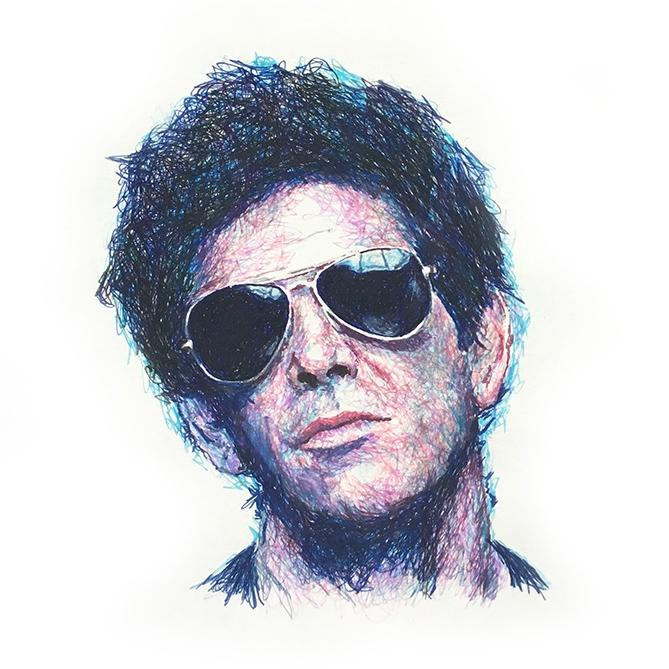 Lou Reed by scribblefactory